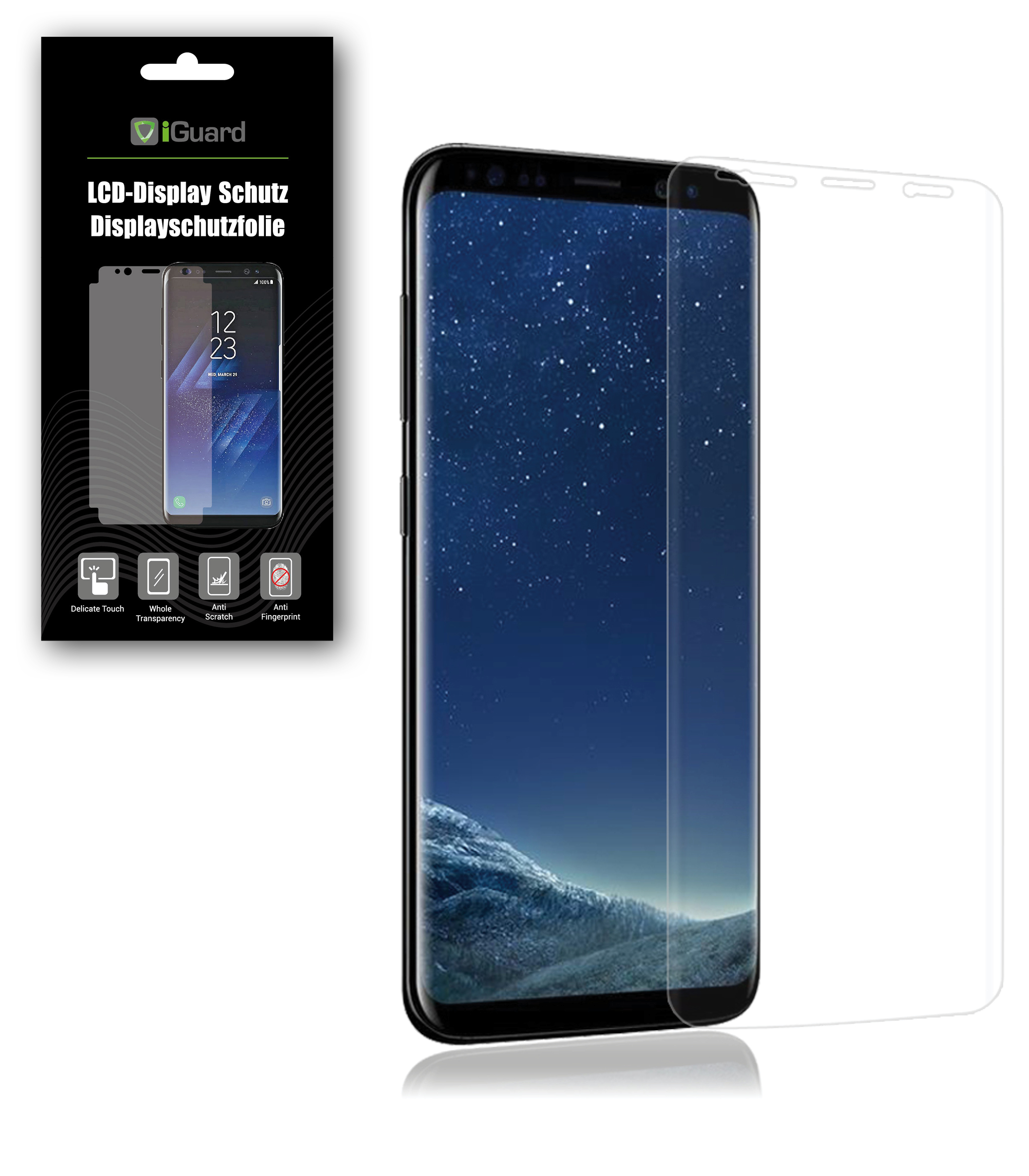 Iguard Screen Protector For Samsung Galaxy S8 Tpu Film Protection New Boxed Ebay