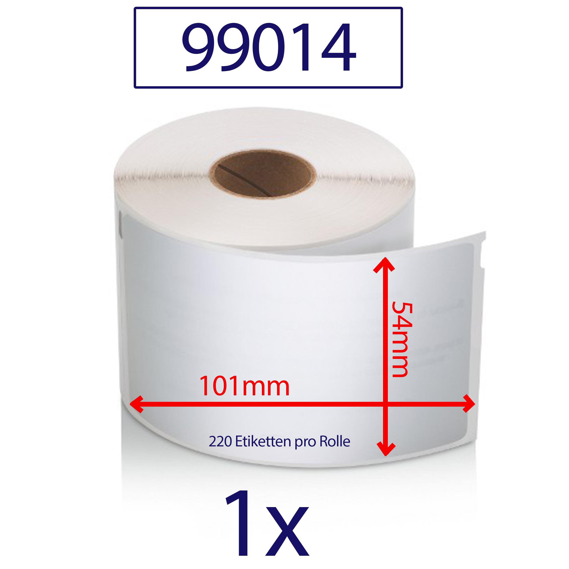 40x Etiketten kompatibel für Dymo 99014 Labelwriter 310 320 330 400 Twin Turbo D