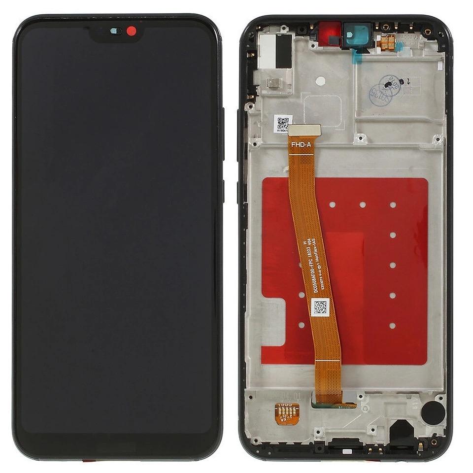 Huawei P20 Lite LCD Display SCHWARZ Touchscreen Digitizer Glas + ...